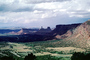 Mesa, Mountains, knob, Castleton Tower, cumulus clouds, Castle Valley, east of Moab, geologic feature, butte