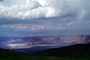 Mountains, clouds, rain, forest, Castleton Tower, Castle Valley, east of Moab