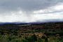 Rain, Mountains, clouds, forest, Castle Valley, east of Moab