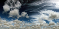Many types of clouds in the sky, Cumulus Puffs, Cirrus Stratus, NWSD05_231
