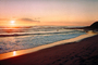 Beach, Waves, bucolic, Sunset, Sunrise, Santa Cruz, California, NWSV01P01_15.2861