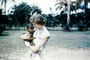 Woman Holds Baby, 1940's, PBTV05P02_12