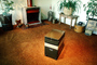 Drawers, fireplace, carpet, Furniture, potted plants, 1979, 1970's