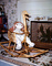 Raggedy Ann, Rocking Chair, Goose, Fireplace, rug, wicker