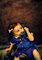 Girl, Dial Phone, Playing, 1950's, PDPV01P10_16