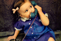 Girl, Dial Phone, Playing, 1950's, PDPV01P10_16C