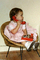 Girl, Dial Phone, Playing, Chair, Seat, Dress, 1950's, PDPV01P10_17B