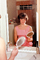 1960's housewife, mirror, vanity, hairdo, primping, 1960's, PDRV01P15_03
