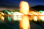 water reflection, lake, Ferris Wheel, Marin County Fair, California, PFFV04P10_10