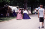 Women walking, full length dress, costume, Civil War re-enactment