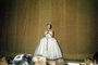 Talent Contest, Singing, Pageant, Poofy Dress, Microphone, 1940's, PFMV01P04_15