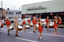Marching Band, Rambler, car, automobile, vehicle, street, road, Upsula, New York, 1950's, PFPV06P05_18