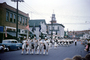 ROTC, Marching Drum Corps, car, automobile, vehicle, Marching Band, Female Color Guard, 1950's, PFPV06P09_18