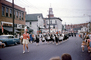 Marching Band, Drum Corps, Majorette, car, automobile, vehicle, street, road, 1950's, PFPV06P10_04