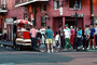 French Quarter, hot dog stand, Bourbon Street, PFSV02P13_18