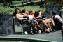 Women on a Bench, Relaxing, Legs, Summer, Sunny, Buenos Aires, PFSV06P11_14