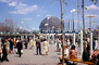 Tram, Poeple, crowds, United States Pavilion, USA, Geodesic Dome, Expo-67, American, Montreal Biosphere, Buckminster Fuller, PFWV01P12_05