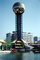 Sunsphere, Gold Globe, Knoxville World's Fair, 1982, Tennessee, The 1982 World's Fair, 1980's, PFWV02P11_05