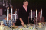 Candles, Cutting Cake, candelabra, January 1966, 1960's, PHBV03P05_13