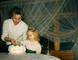Mother, Daughter, Cake, Diaphanous Curtains, February 1962, 1960's, PHBV03P06_13