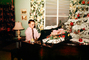 Christmas Tree decorated, decorations, boy, grand piano, presents, 1950's, PHCV01P11_05