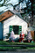 Christmas Tree, Santa Claus, lawn, front yard, sled, home, house, building, PHCV01P15_02