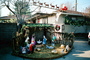 nativity scene, reindeer, Santa Claus, lawn, front yard, sled, home, house, building, PHCV01P15_04