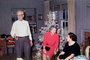 Man, Woman, Presents, Decorations, Ornaments, Tree, Christmas Tree decorated, 1940's, PHCV02P11_04