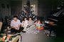 Christmas Morning, boy, man, woman, daughter, son, girl, piano, Presents, Decorations, Ornaments, Tree, 1960's, PHCV02P11_16