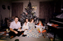 Christmas Morning, boy, man, woman, daughter, son, girl, piano, Presents, Decorations, Ornaments, Tree, 1960's, PHCV02P11_17
