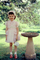 Girl, Bird Bath, Dress, Shoes, Purse, Bonnet, 1958, 1950's, PHEV01P01_10