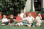 Easter Baskets, Boys, Girls, Lawn, Easter Egg Hunt, April 1967, 1960's, PHEV01P01_13