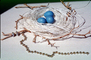 Blue eggs, paper nest, jewelry, twigs, PHEV01P03_07