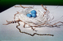 Blue eggs, paper nest, jewelry, twigs, PHEV01P03_08