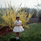 Easter Girl, Backyard, flower tree, 1950's, PHEV01P08_15
