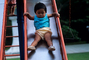 Toddler Sliding on a Slide, PLGV02P01_15