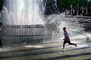 Water Fountain, aquatics, Boy, Running, Splashing, splash fountain, PLGV02P14_16
