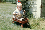 boy and his wagon, American Beauty wagon, baby boy, 1960's, PLGV03P04_16