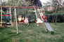 Swing, slide, backyard, lawn, PLGV03P05_17