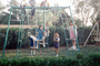 swing set, girls, backyard, Riverside California, April 1970, 1970's, PLGV03P06_09