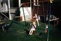 Girl, Boy, Swing set, backyard, PLGV03P07_07