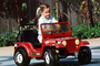 Toy Car, Jeep, Girl, Smiles, PLGV03P07_12