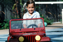 Toy Jeep, Girl, Smiles, head-on, PLGV03P07_13