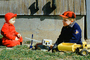 Tonka Toy, Hat, Jackets, Cold, Crane, Boys, Brothers, 1950's