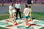 Vintage Parcheesi board game, towel, cloth, girls, boys, May 1968, 1960's