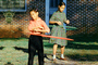 Hoola-Hoop, Hula Hoop, Twirling, Girls, Backyard, Hoola Hoop, Hulahoop, September 1958, 1950's
