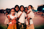 Group of Children, evening, girls, Mumbai, India