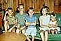 Family, Group, Sofa, Sisters, Brothers, Siblings, smiles, smiling, cute, boys, girls, July 1960, 1960's, PLPV12P11_18