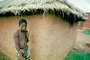 Boy, Male, grass thatched roof, building, Sod, PLPV15P01_04