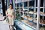 Woman, Bakery, shop, purse, dress, bread, Angkor, Cambodia, 1960's, PORV27P05_04